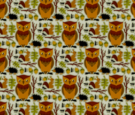 Inthewoods fabric by renule on Spoonflower - custom fabric
