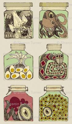 weird pickles vintage pillow kit