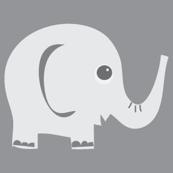 Ellie Fun Elephant Grey