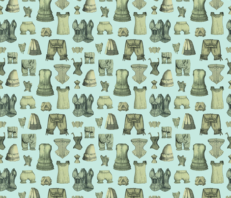 Underthings in Dove  fabric by mouo on Spoonflower - custom fabric