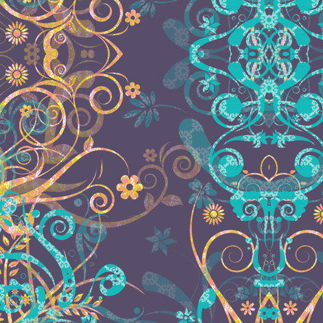 summer_flourish fabric by snork on Spoonflower - custom fabric