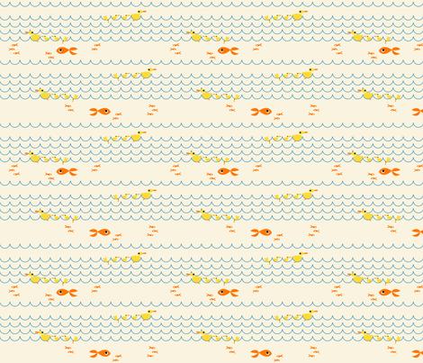 Duck_Swim fabric by ttoz on Spoonflower - custom fabric