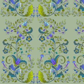 Russian Floral-Khaki