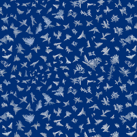 frost on blue fabric by weavingmajor on Spoonflower - custom fabric