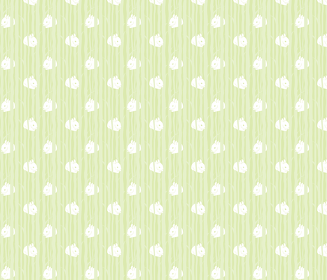 bunny wood baby fabric by malien00 on Spoonflower - custom fabric