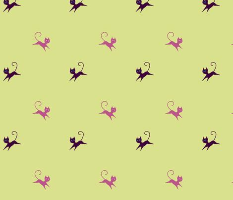 Kitty Kat fabric by malien00 on Spoonflower - custom fabric