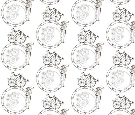 Toile de steampunk fabric by hushaby&quirks on Spoonflower - custom fabric