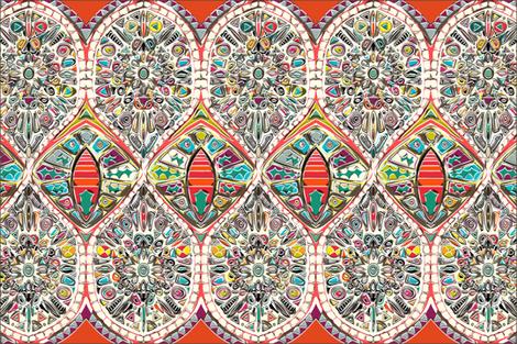 holly christmas tea towel fabric by scrummy on Spoonflower - custom fabric