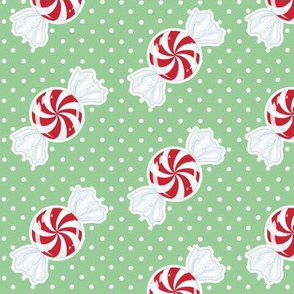 Red Peppermint on Green