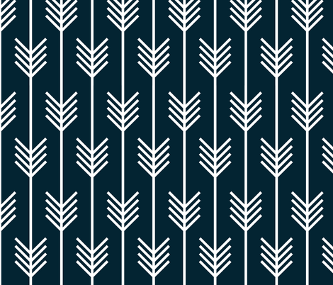 arrows navy fabric by holli_zollinger on Spoonflower - custom fabric