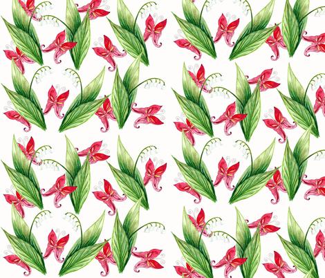 printemps bonheur1 fabric by nadja_petremand on Spoonflower - custom fabric
