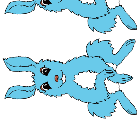 Big Boy Bunny fabric by thread_and_thumb on Spoonflower - custom fabric