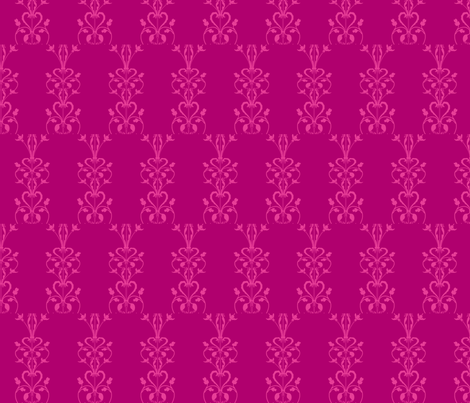 Pinkheartdamask3-ch fabric by withonethread on Spoonflower - custom fabric