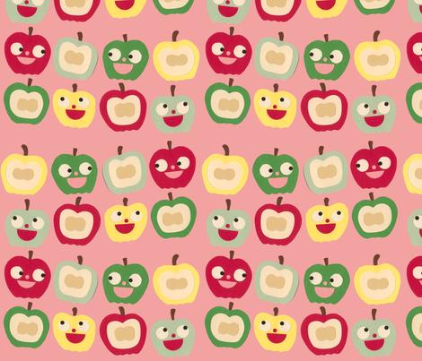 apples pink fabric by heidikenney on Spoonflower - custom fabric