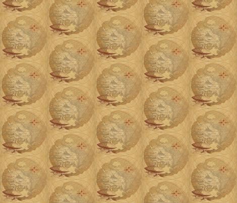 World Map fabric by greencellist on Spoonflower - custom fabric