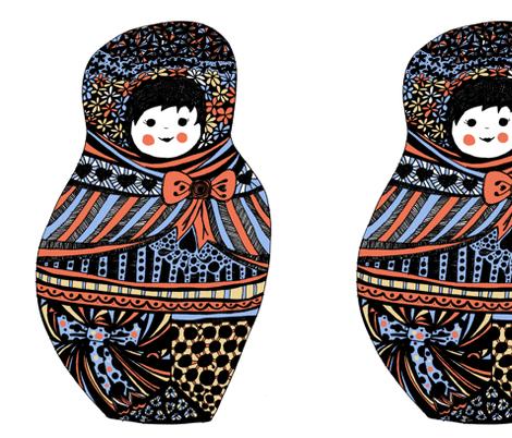big babushka doll fabric by beecah on Spoonflower - custom fabric