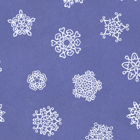 cut paper snow-stars fabric by weavingmajor on Spoonflower - custom fabric