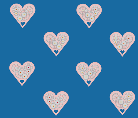Clockwork Heart fabric by rlovell on Spoonflower - custom fabric
