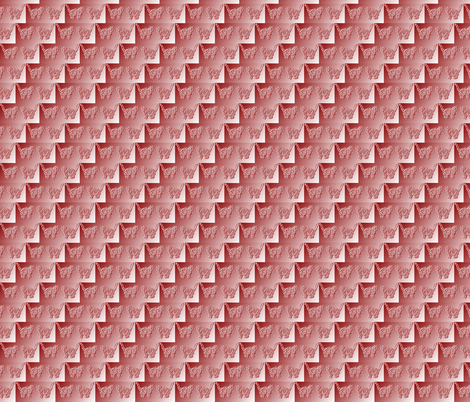 Tabby Illusion Red fabric by karendel on Spoonflower - custom fabric