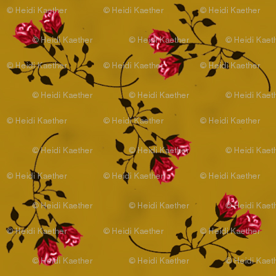 Scattered Golden Roses