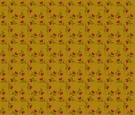 Scattered Golden Roses fabric by heidikaether on Spoonflower - custom fabric