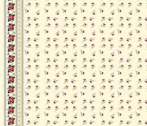 Golden Rose Border Print fabric by heidikaether on Spoonflower - custom fabric