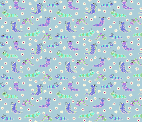 chenilles Blue fabric by thelazygiraffe on Spoonflower - custom fabric