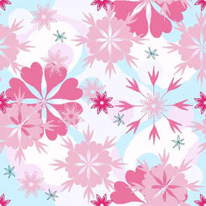 flowers & snowflakes