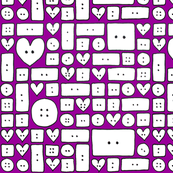 Cute as a Button 13/20 purple back