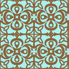 """Cathedral Blossoms"" in brown"