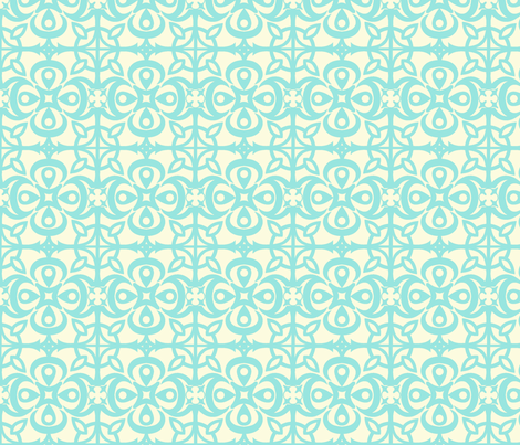 """Cathedral Blossoms"" in blue fabric by mytinystar on Spoonflower - custom fabric"