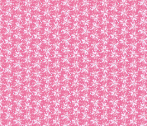 mixed_flower_pink_dark fabric by lovefrombeth on Spoonflower - custom fabric