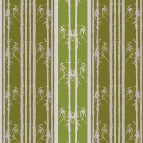 Bamboo wainscot, Green on Green
