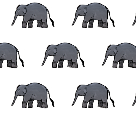 Elephant Parade fabric by taraput on Spoonflower - custom fabric