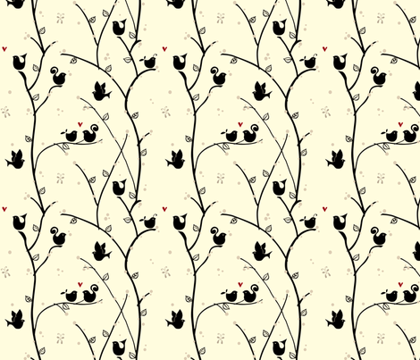 Finding_love fabric by ttoz on Spoonflower - custom fabric