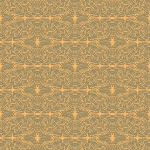 Batik, Khaki and Orange