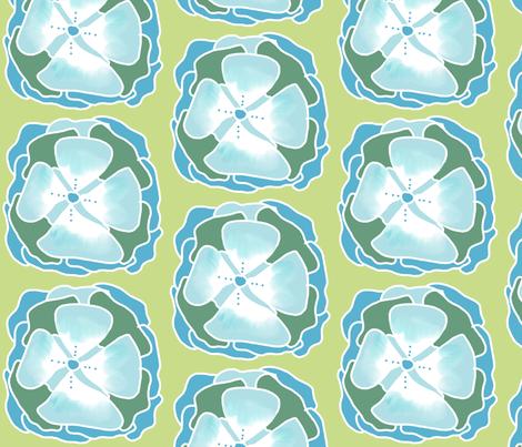 snowflower fabric by katrina_whitsett on Spoonflower - custom fabric