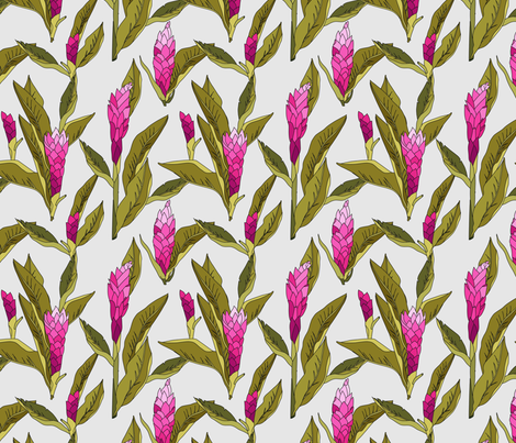 ginger_pink_reduced fabric by holli_zollinger on Spoonflower - custom fabric