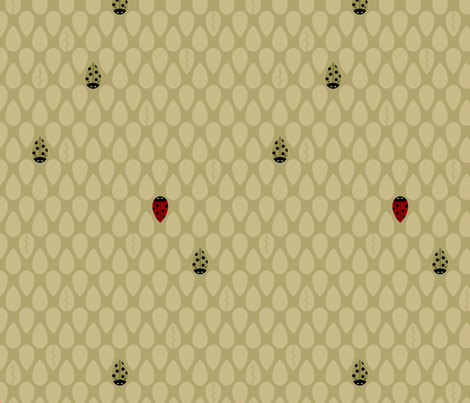 Lucky Bug fabric by freshlypieced on Spoonflower - custom fabric