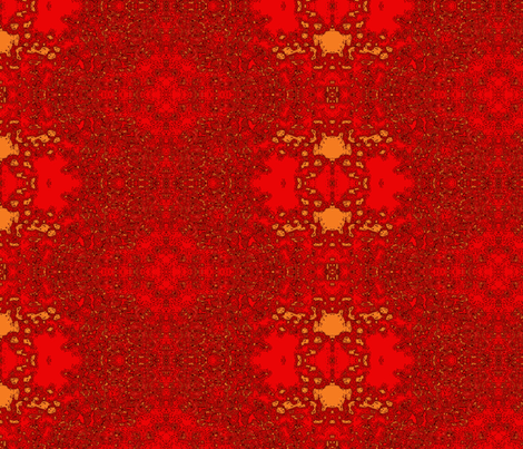 Cayenne Dahlia- MR-L fabric by mindy_fitterman on Spoonflower - custom fabric