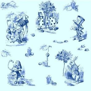 AliceToile-BLUE background