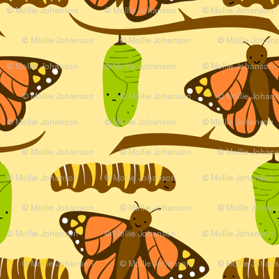 Butterfly Fabric Large