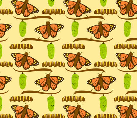 Butterfly Fabric Large fabric by wildolive on Spoonflower - custom fabric