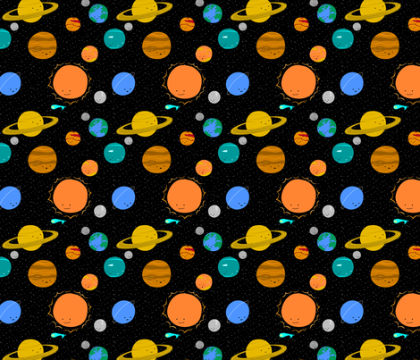SolarSystemFabric1 fabric by wildolive on Spoonflower - custom fabric