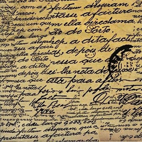 Vintage hand writing