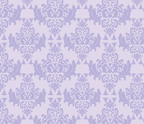 Delicious Damask in Lavender fabric by mayabella on Spoonflower - custom fabric