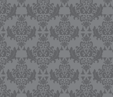 Charcoal Damask fabric by mayabella on Spoonflower - custom fabric