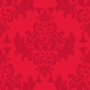 Delicious Damask in Orange Red