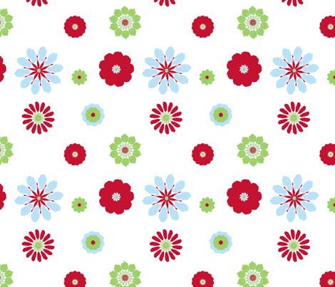 Zee Flowers in Retro fabric by mayabella on Spoonflower - custom fabric