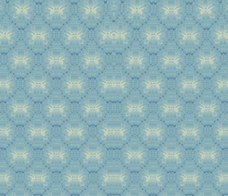 Lotus Kaleidoscope-- Blue 1 fabric by winter on Spoonflower - custom fabric